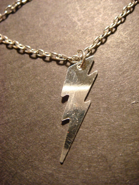 Silver Iightning Bolt Necklace