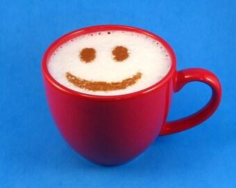 Cappuccino Stencil - Coffee Stencil - Baking Stencil - Smiley Face