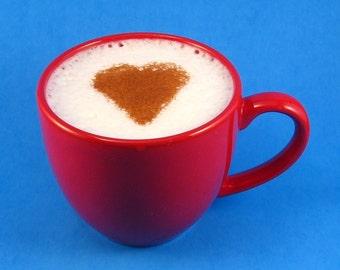 Cappuccino Stencil - Baking Stencil - Coffee Stencil - Valentine Heart