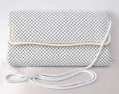 Reserved for Sandelyn - Vintage White Metal Mesh Clutch, La Regale, or Shoulder Bag