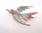 Vintage Bird Pin, Mamselle, Flying Swallow