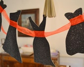 Little Black Dress Garland Paper Bachelorette Party Bridal Shower Girls Night Decoration Sparkly Black and Red Organza Ribbon