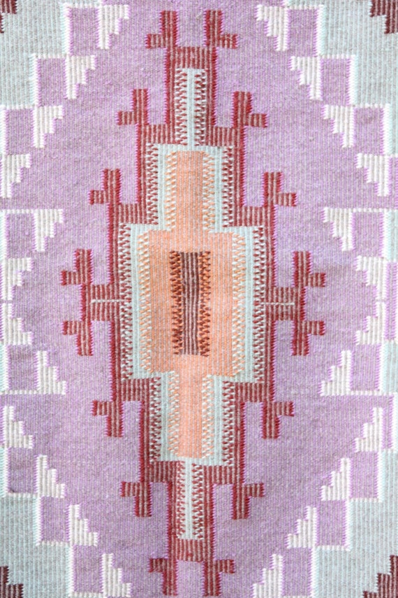 Reserved for Tasia Rivero, Vintage 70's hand woven authentic Navajo rug