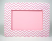 Chevron Picture Frame Pink 4inx6in