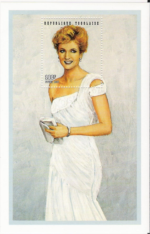 Princess Diana, Princess Di, postage stamps for craft projects, ephemera, stamp collecting, Treasury Item