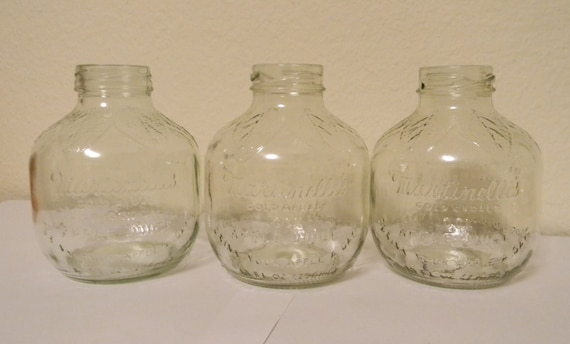 Vintage Martinelli's Apple Juice Jars, Glass, Instant Collection, many uses, Martinelli's Gold Medal apple juice, apple shape, Treasury Item