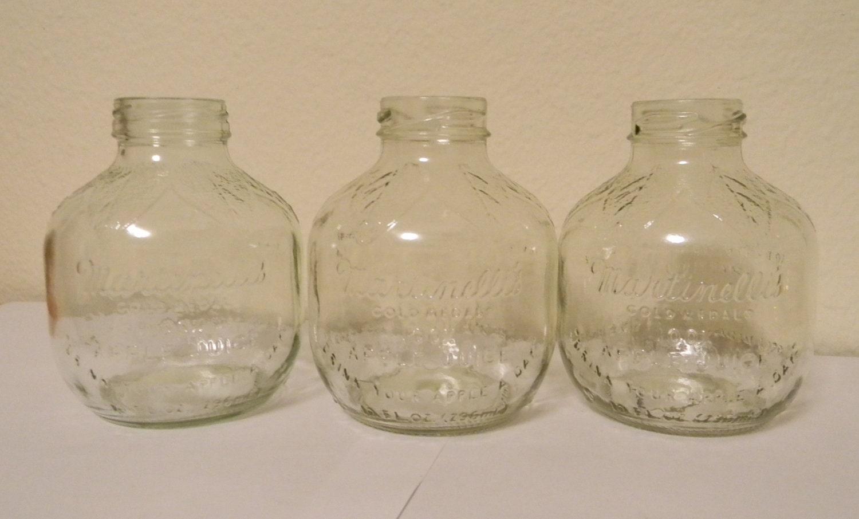 Vintage Martinelli S Apple Juice Jars Glass Instant