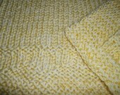 Hugs to Go Hearts Knitted Baby Afghan Blanket - Bright Yellow
