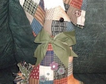 Soft Sculpture - Country Plaid Bunny
