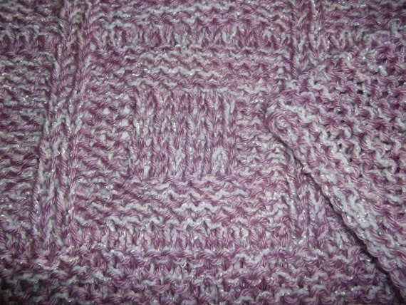 Hugs to Go Boxes Knitted Baby Afghan Blanket - Raspberry Pink