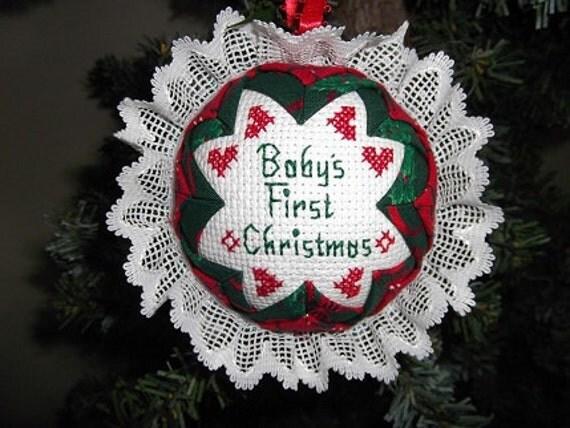 Christmas Ornament - Musical Cross Stitch - Rudolph Reindeer