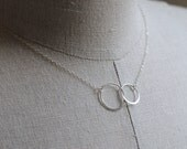Circles Necklace STERLING SILVER, Couples Necklace, Interlocking Circles, Mothers Necklace, Engagement Necklace, Mothers  Day Jewelry