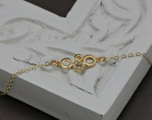 Cubic Zirconia Gold Necklace- 14K Gold Filled Chain and CZ Crystals Bubble Pendant,Wedding Jewelry, Mothers Jewelry, Modern Circles