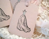 Cinderella Dress Gift Tags No104 - Shabby Chic Gift Tags - Pink - Opalescent - Birthday Party - Wedding Dress - Wedding - Bridal Shower