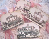 Cinderella Carriage Gift Tags - Shabby Chic Tag - French Gift Tag - Marie Antoinette - Princess Birthday Party - Tea Party - Bridal Shower