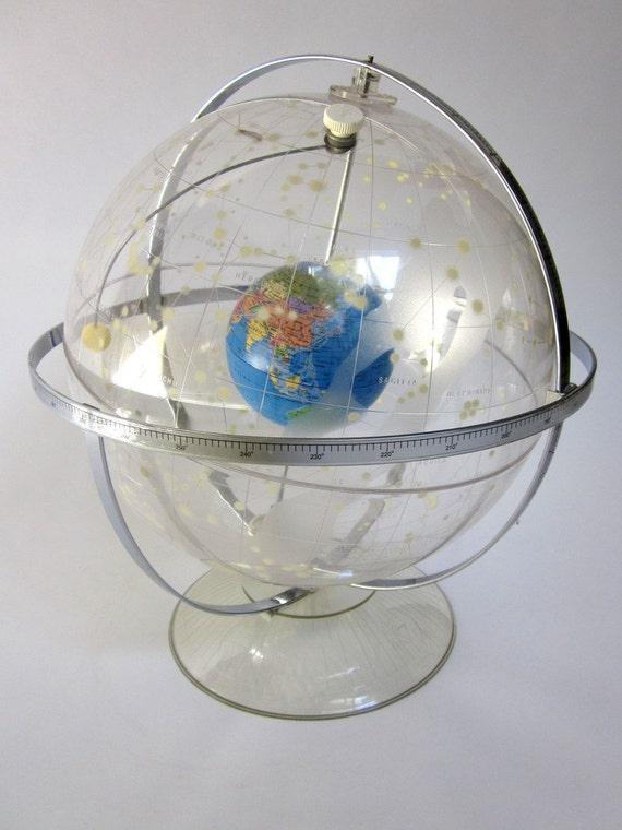 Hubble Celestial and World Globe Transparent Planetarium RESERVED