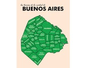 Buenos Aires Neighborhood Map