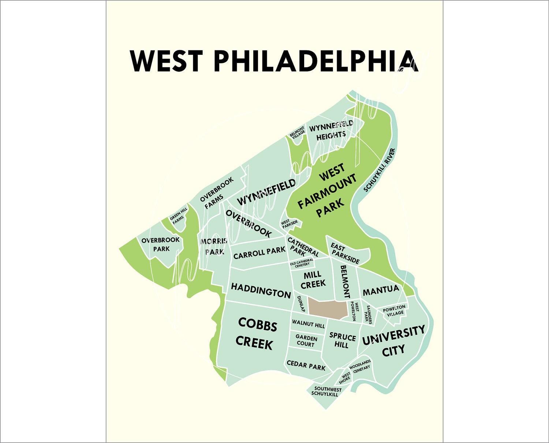 West Philadelphia Neighborhood Map