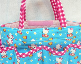 Hello Kitty 8 pockets Bingo bag  /great for craft and make-up   organizer