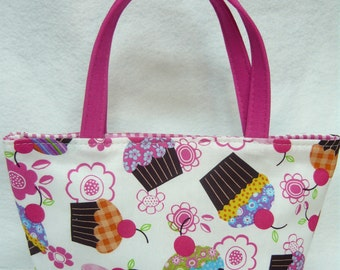 Cupcakes Kids Bag // Cupcakes in White Kids Purse