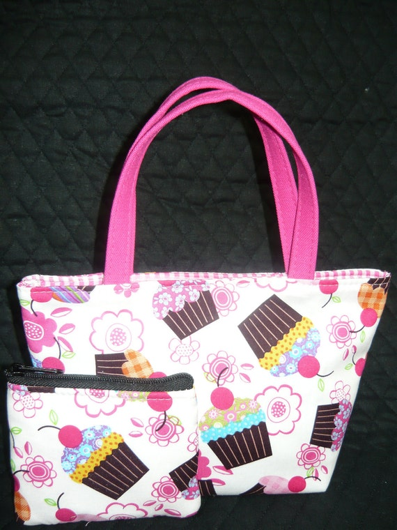 Cupcakes Kids Purse and Coin Bag Set