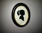 Original Silhouette in an Oval Frame