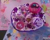 Purple Sweet Kawaii Deco Den Trinket Box