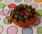 Kawaii Sweet Squishy Sprinkles Chocolate Donut Charm