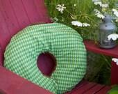 Nursing Pillow Cover - Green Argyle Dot (Boppy)