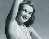 Ladies' 1940s Vintage Shorts and Halter Set -- Pattern