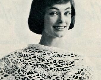 Women's Vintage Hairpin Lace Stole -- Crochet -- PDF CROCHET PATTERN