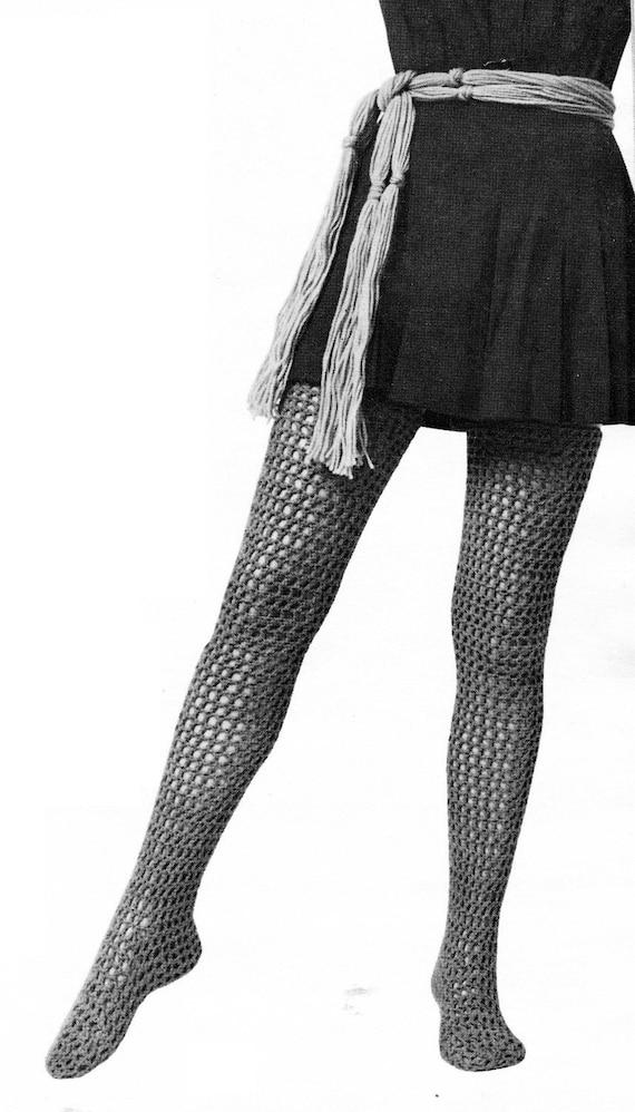 Women's Retro Crocheted Socks and Stockings -- PDF CROCHET PATTERN