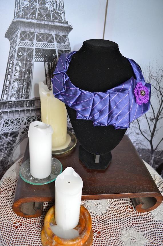 Purple necktie necklace