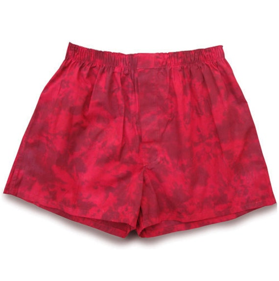 ON SALE Boxer Shorts SIZE M Red Shadows Cotton Discounted Stock