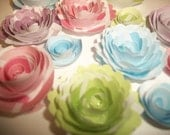 Easter Themed Pastels Handmade Spiral Paper Flowers 50% off entire store
