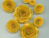 Sunflower Yellow Rose Spiral Paper Flowers