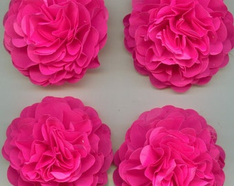 Bright Hot Pink Carnation Paper Flowers