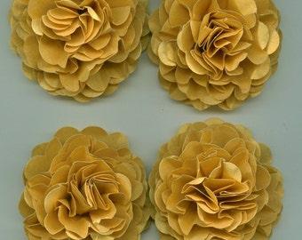 Gold Wedding Carnation Paper Flowers