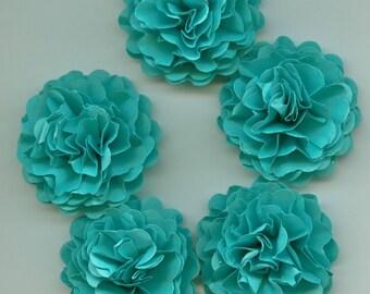 Aqua Blue Mini Carnation Paper Flowers