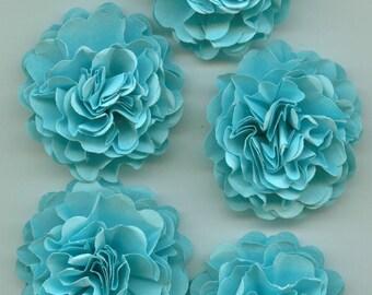 Baby Blue Mini Carnation Paper Flowers