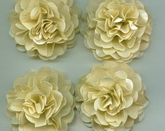 Pearlescent Champagne Carnation Paper Flowers for Weddings, Bouquets, Events and Crafts