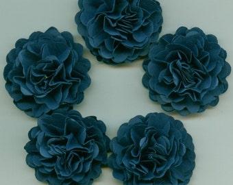Navy Blue Mini Carnation Paper Flowers
