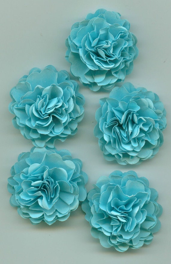 Baby Blue Mini Carnation Paper Flowers