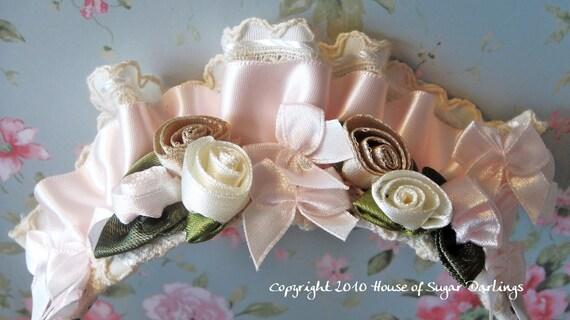 ON SALE HeadGirl - Marie Antoinette's Lace Fan Headband in Pink