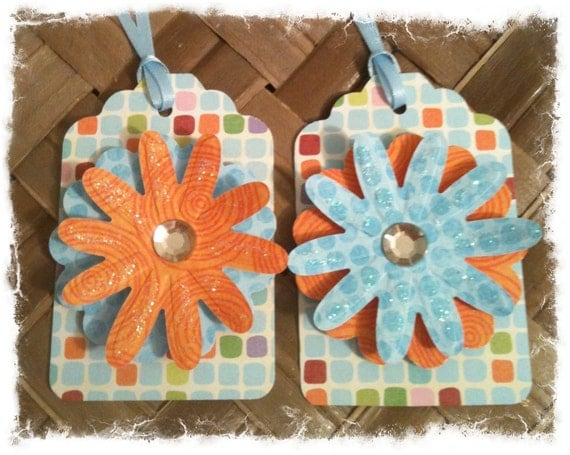 FOUR Daisies Graphic Bright Fun Handmade All Occasion Gift