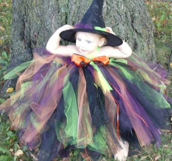 Witch  Tutu Dress Halloween Costume Girl/toddler