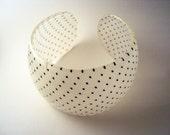 Elegant polka dots handmade resin bracelet