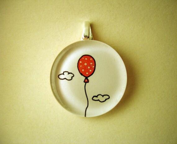 Custom listing for Dora Original hand painted glass pendant - Hope