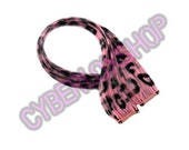 ClipIn 12 Hair Extensions Baby Pink Leopard Print Emo Scene