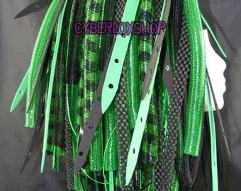Cyberlox Dread Goth Green Black GreenWeb Hair Falls